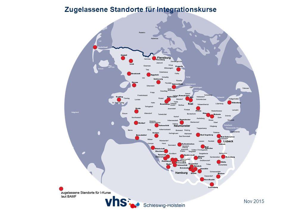 Zugelassene Standorte für Integrationskurse Nov 2015