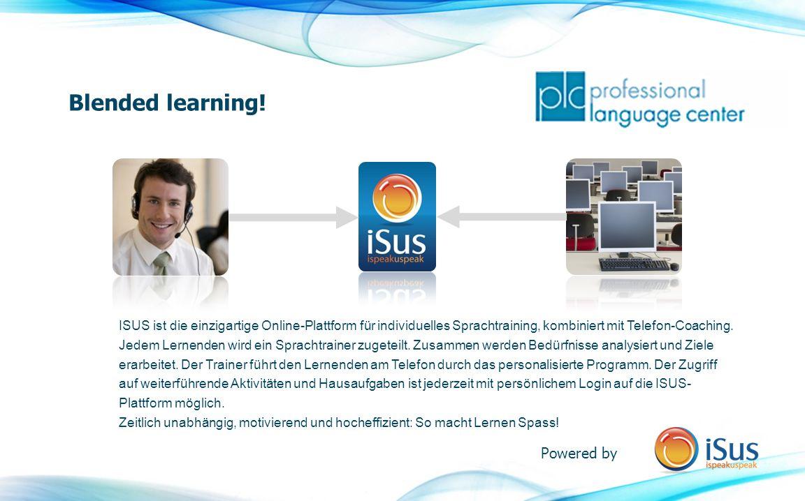 ISUS ist die einzigartige Online-Plattform für individuelles Sprachtraining, kombiniert mit Telefon-Coaching.
