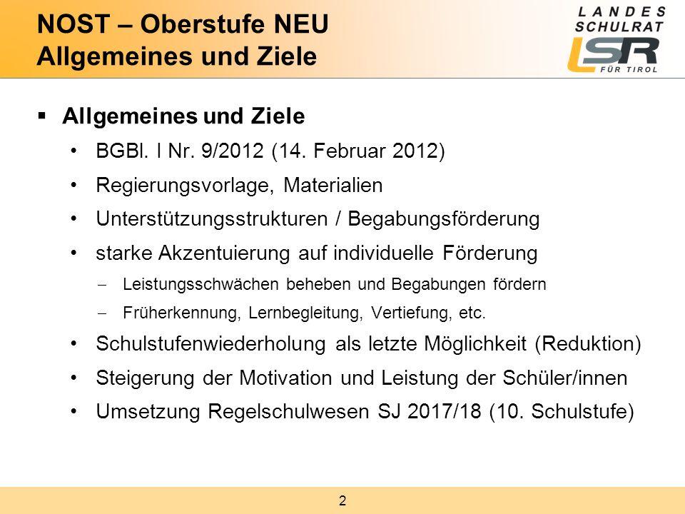 2  Allgemeines und Ziele BGBl. I Nr. 9/2012 (14. Februar 2012) Regierungsvorlage, Materialien Unterstützungsstrukturen / Begabungsförderung starke Ak