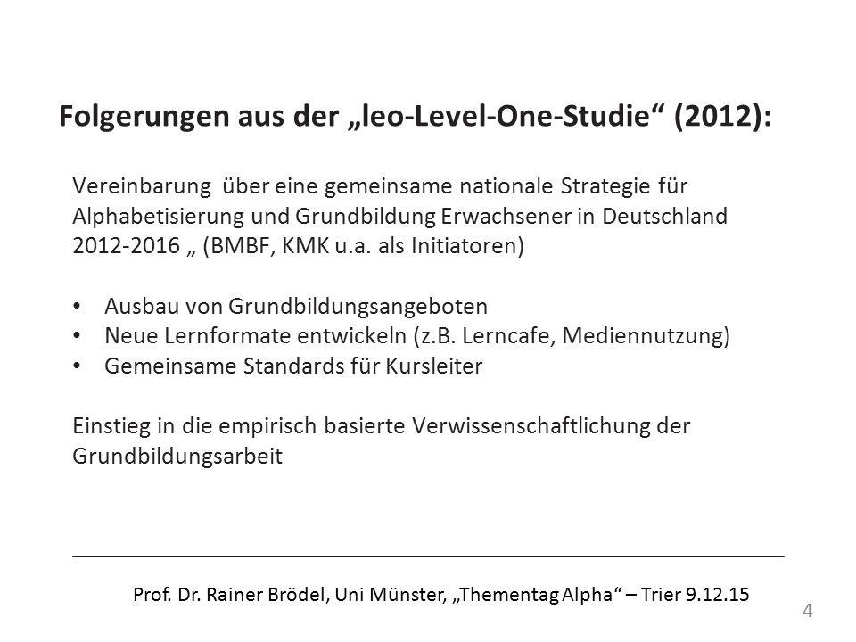 Übersicht 2: Lernbiografische Vorerfahrungen von Teilnehmenden an Alpha-Kursen Ursprung: Birte Egloff, Biografieforschung und Literalität.