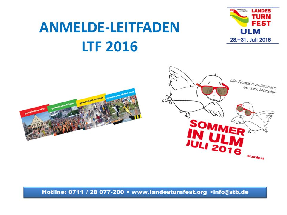 ANMELDE-LEITFADEN LTF 2016