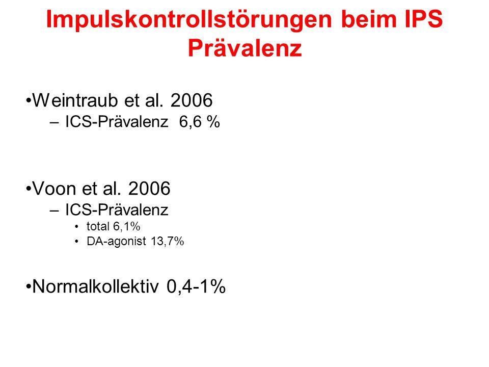 Impulskontrollstörungen beim IPS Prävalenz Weintraub et al.