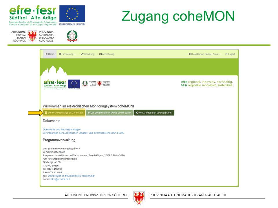 AUTONOME PROVINZ BOZEN - SÜDTIROLPROVINCIA AUTONOMA DI BOLZANO - ALTO ADIGE Kontakte & Informationen Verwaltungsbehörde Amt für europäische Integration Gerbergasse 69, Bozen 0471-413160 efre@provinz.bz.it www.provinz.bz.it/efre Autorità di gestione Ufficio per l'integrazione europea Via Conciapelli 69, Bolzano 0471-413160 fesr@provincia.bz.it www.provincia.bz.it/fesr Vielen Dank für Ihre Aufmerksamkeit