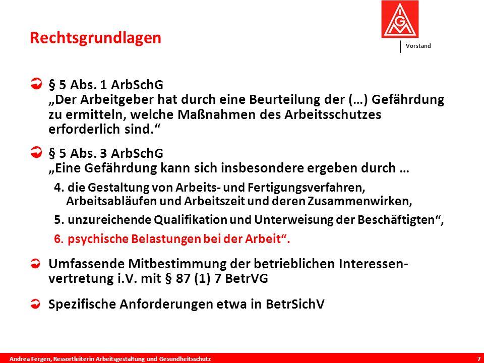 Vorstand 7 Rechtsgrundlagen ie Praxis § 5 Abs.
