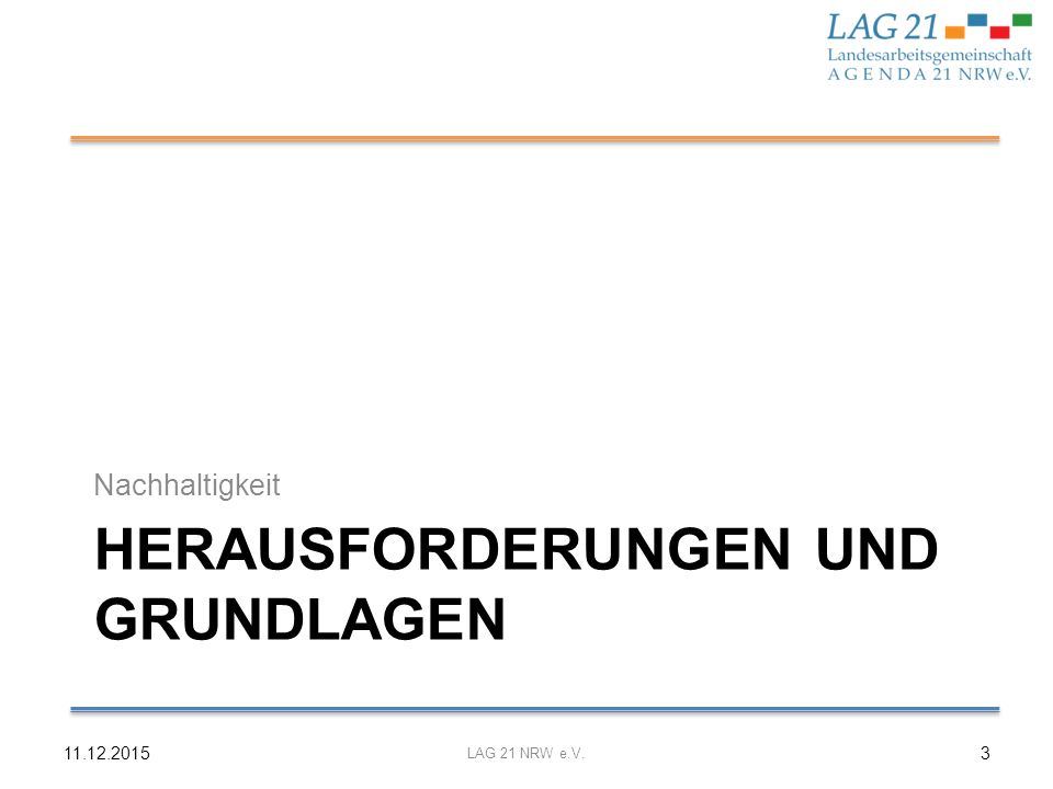 Sustainable Development Goals 11.12.2015 LAG 21 NRW e.V.