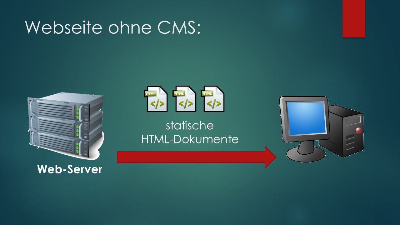 Webseite ohne CMS: Web-Server statische HTML-Dokumente