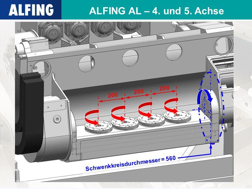 ALFING AL – 4. und 5. Achse 200 Schwenkkreisdurchmesser = 560