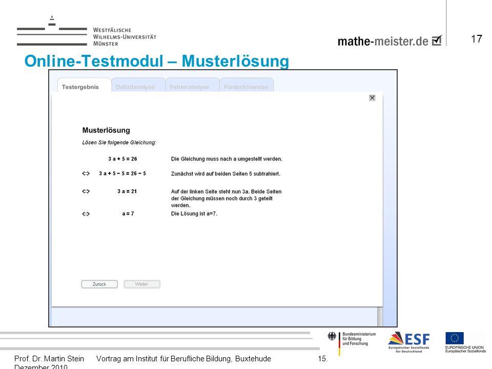 Prof. Dr. Martin Stein Vortrag am Institut für Berufliche Bildung, Buxtehude 15.