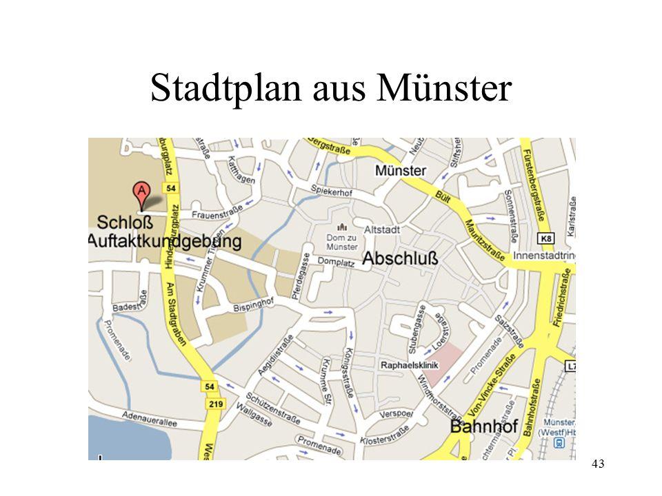 43 Stadtplan aus Münster