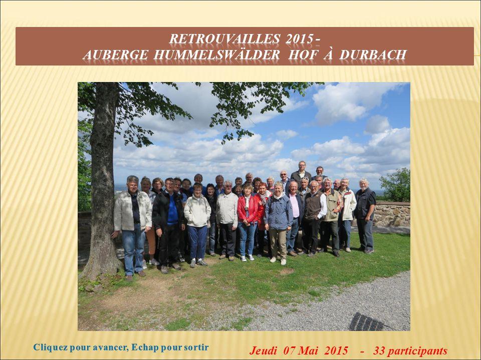 Jeudi 07 Mai 2015 - 33 participants