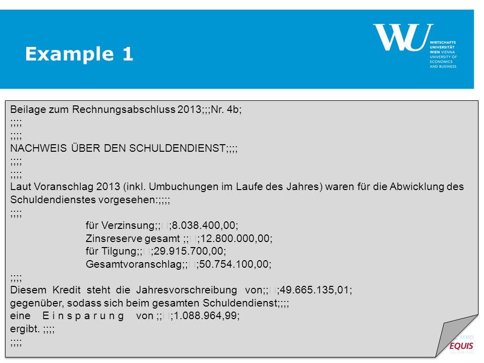 Beilage zum Rechnungsabschluss 2013;;;Nr.