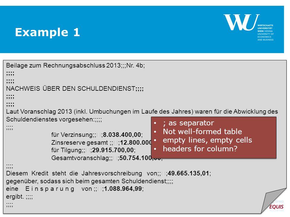 Example 1 Beilage zum Rechnungsabschluss 2013;;;Nr.