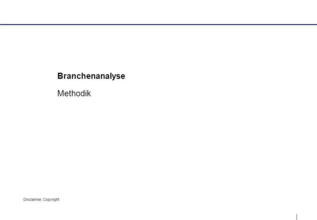 1 Branchenanalyse Methodik Disclaimer, Copyright