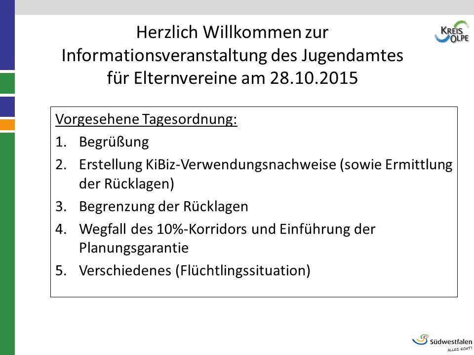 Herzlich Willkommen zur Informationsveranstaltung des Jugendamtes für Elternvereine am 28.10.2015 Vorgesehene Tagesordnung: 1.Begrüßung 2.Erstellung K