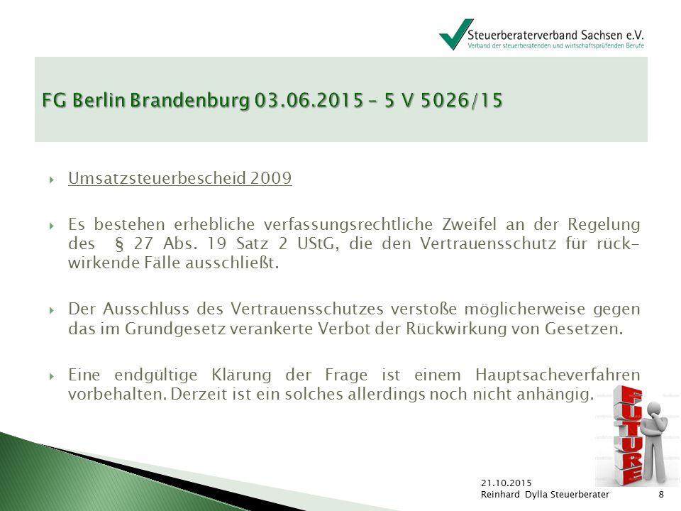 """ """"Rechtsunsicherheit bei der Umsatzsteuerschuldnerschaft für Bauleistungen ."""
