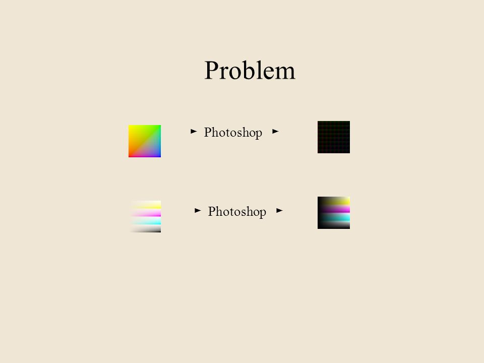 Problem ► Photoshop ►