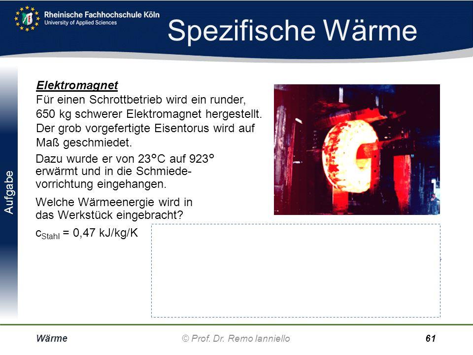 Lösung Wärme-Übertragung Wärme© Prof. Dr. Remo Ianniello60