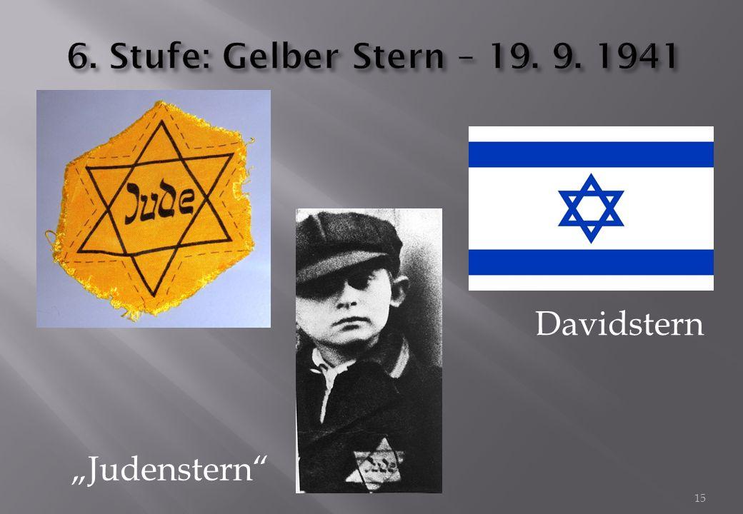 "15 Davidstern ""Judenstern"""