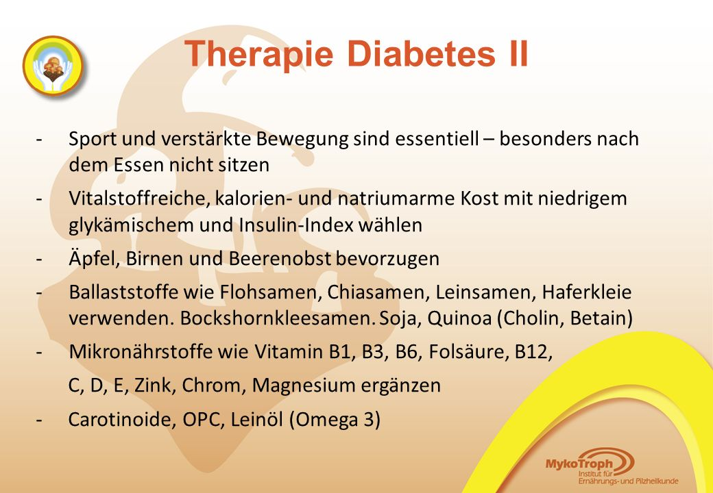 Therapie Diabetes II -Sport und verstärkte Bewegung sind essentiell – besonders nach dem Essen nicht sitzen -Vitalstoffreiche, kalorien- und natriumar