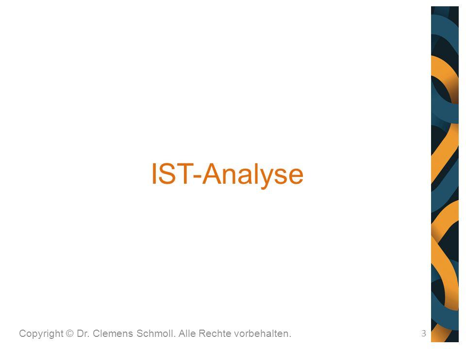 IST-Analyse 3 Copyright © Dr. Clemens Schmoll. Alle Rechte vorbehalten.