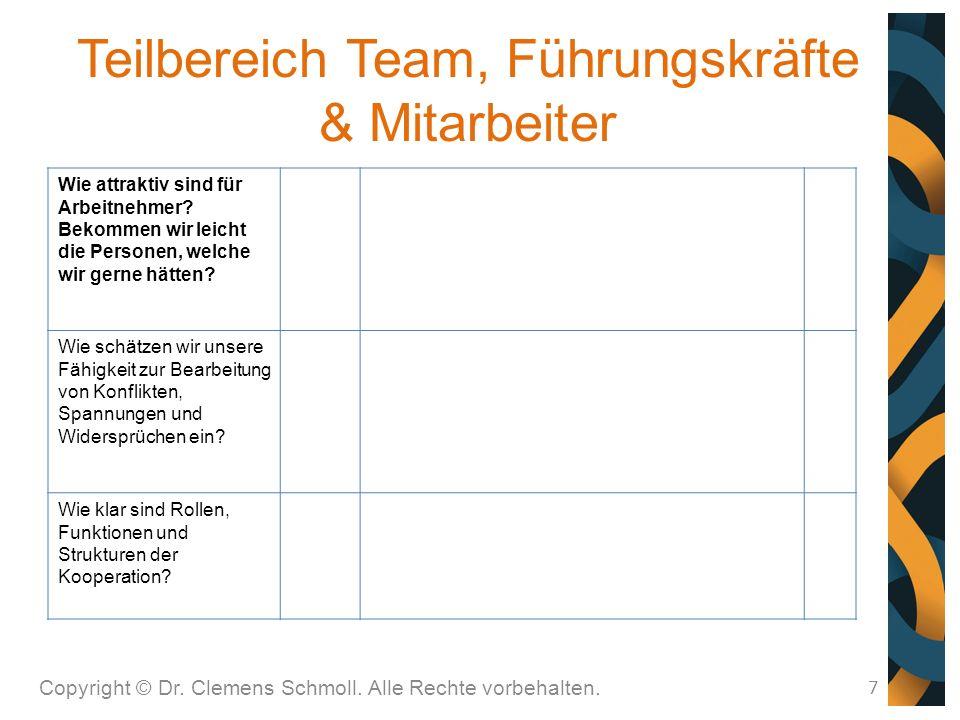 Teilbereich Team, Führungskräfte & Mitarbeiter 7 Wie attraktiv sind für Arbeitnehmer.