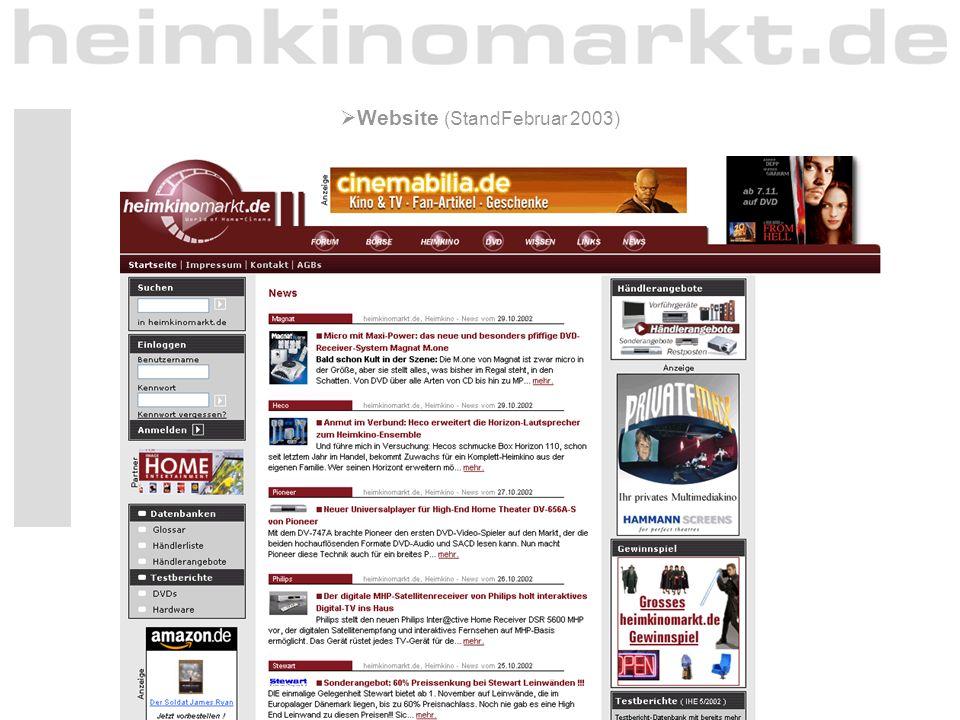 10  Website (StandFebruar 2003)