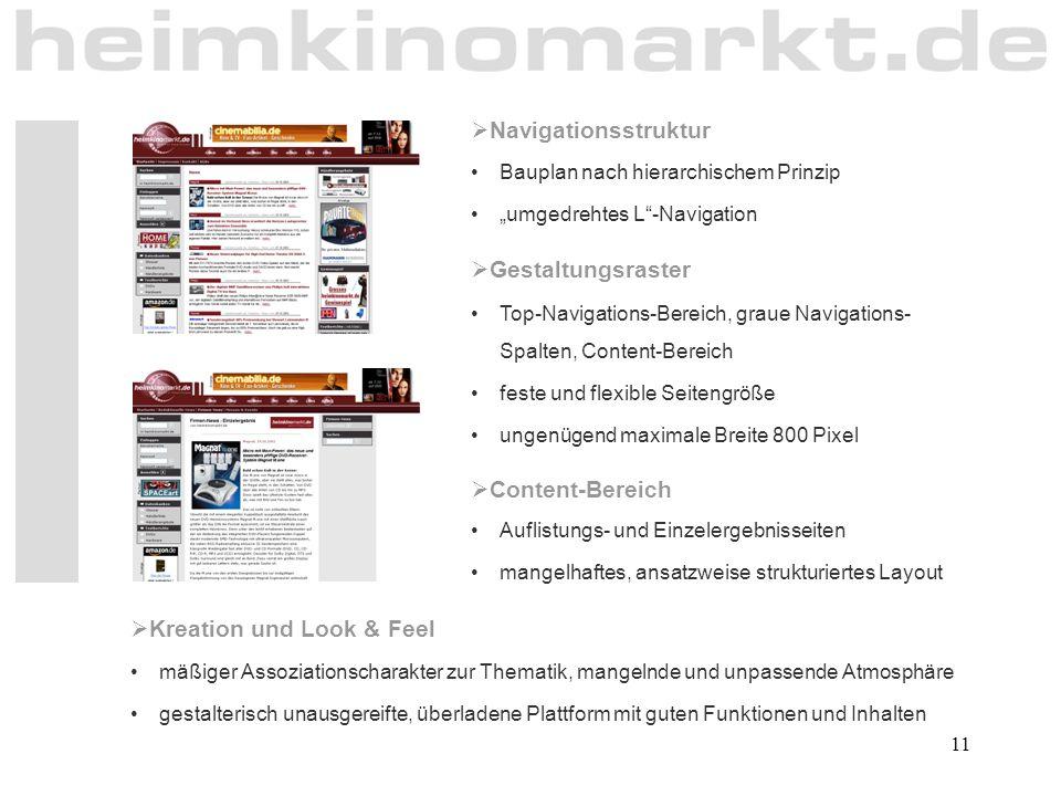 """11  Navigationsstruktur Bauplan nach hierarchischem Prinzip """"umgedrehtes L""""-Navigation  Gestaltungsraster Top-Navigations-Bereich, graue Navigations"""