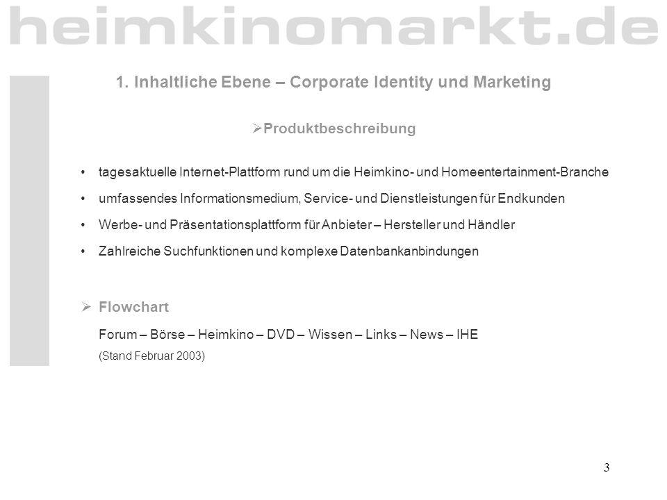 3  Produktbeschreibung tagesaktuelle Internet-Plattform rund um die Heimkino- und Homeentertainment-Branche umfassendes Informationsmedium, Service-