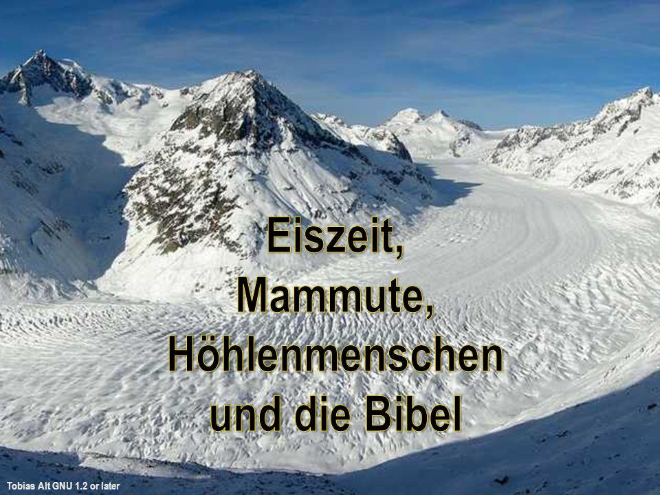 Hiob und die Eiszeit Hiob 12: 15 Siehe, er hemmt die Wasser, und sie vertrocknen; und er läßt sie los, und sie kehren das Land um.