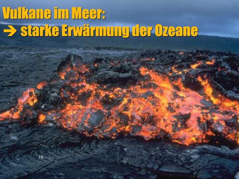 Vulkane im Meer:  starke Erwärmung der Ozeane FB