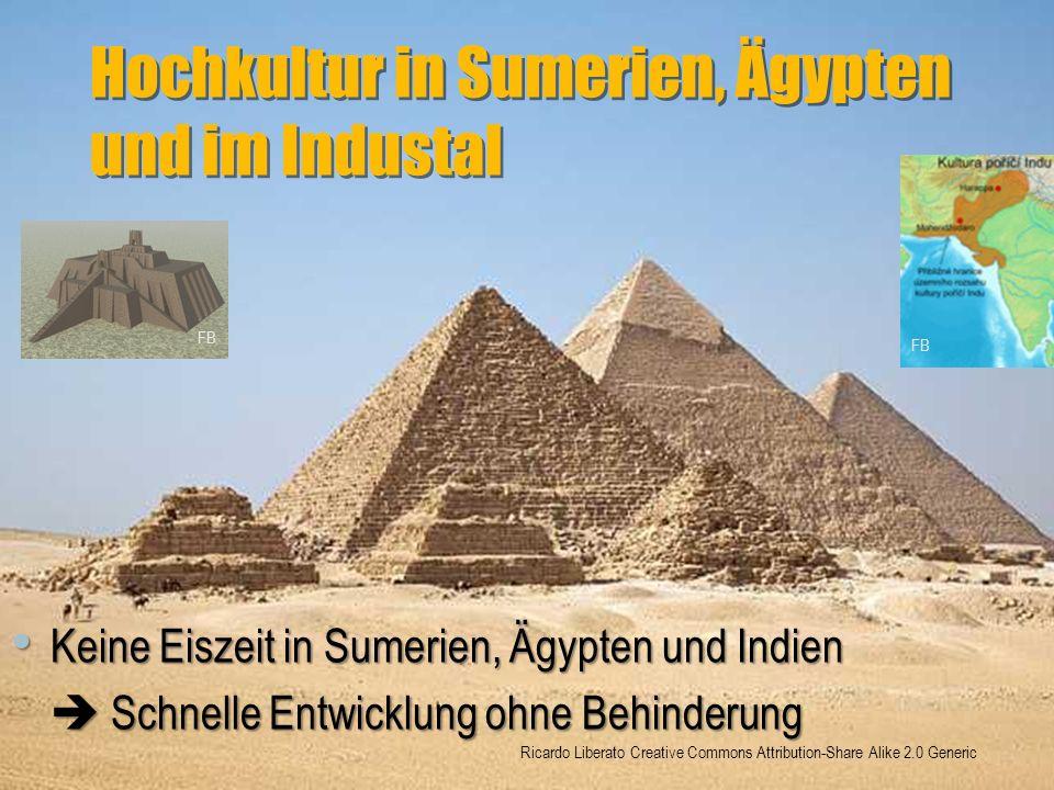 Hochkultur in Sumerien, Ägypten und im Industal Keine Eiszeit in Sumerien, Ägypten und Indien Keine Eiszeit in Sumerien, Ägypten und Indien  Schnelle