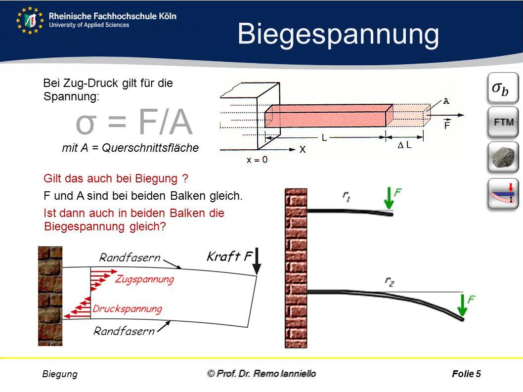 Aufgabe Quiz Biegung © Prof. Dr.