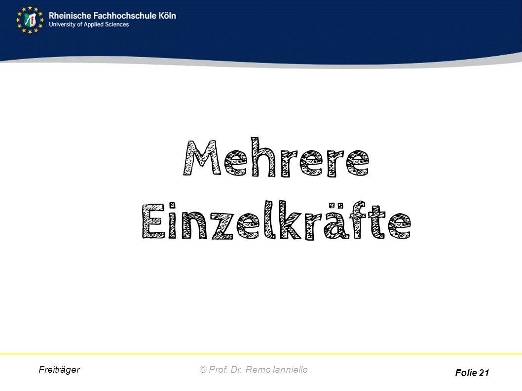 Mehrere Einzelkräfte © Prof. Dr. Remo Ianniello Freiträger Folie 21