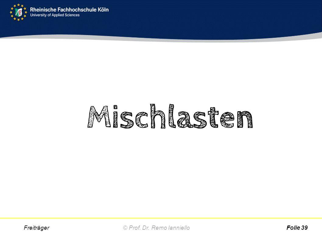 Mischlasten © Prof. Dr. Remo Ianniello Freiträger Folie 39