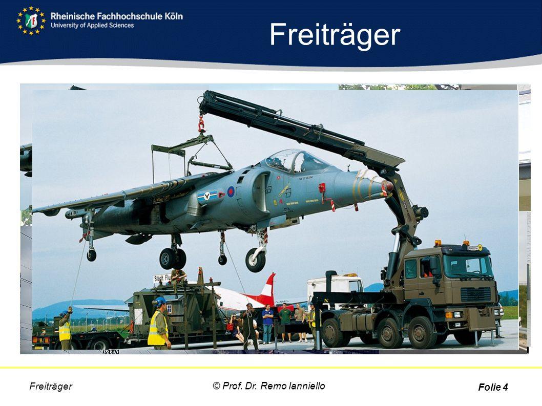 Freiträger Folie 4 © Prof. Dr. Remo Ianniello