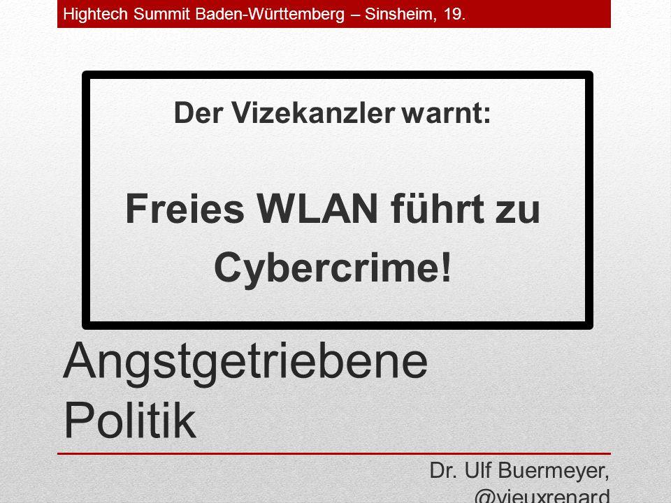 Angstgetriebene Politik Der Vizekanzler warnt: Freies WLAN führt zu Cybercrime.