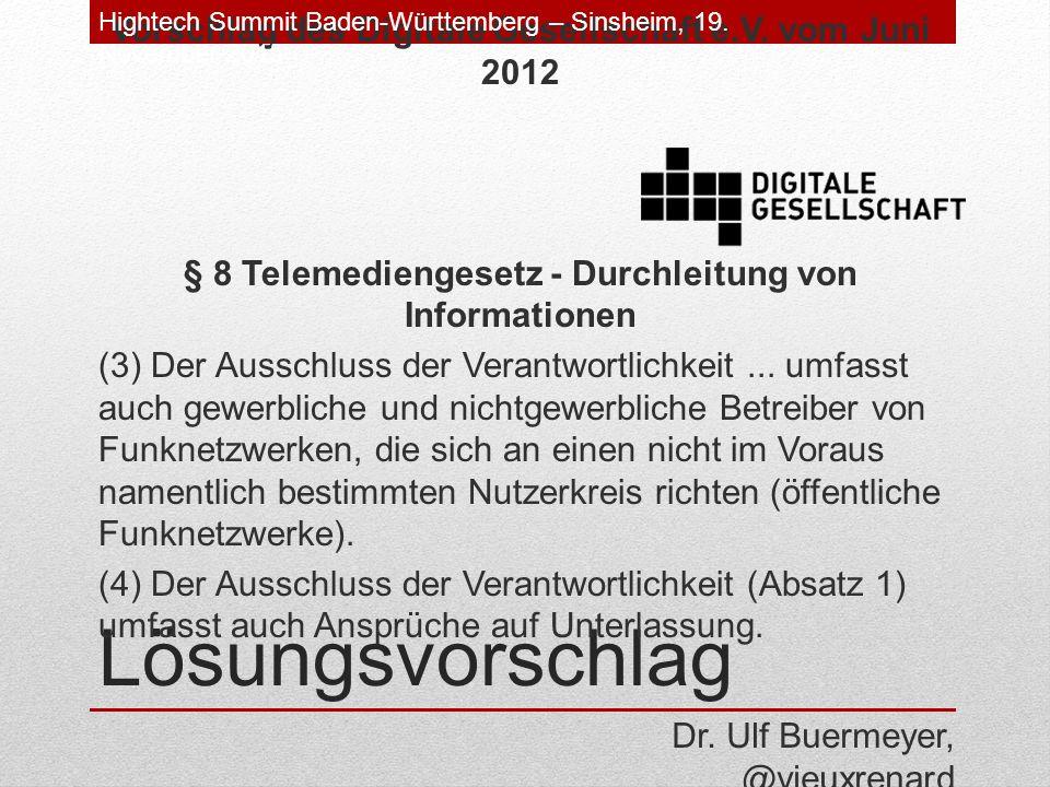 Lösungsvorschlag Vorschlag des Digitale Gesellschaft e.V.