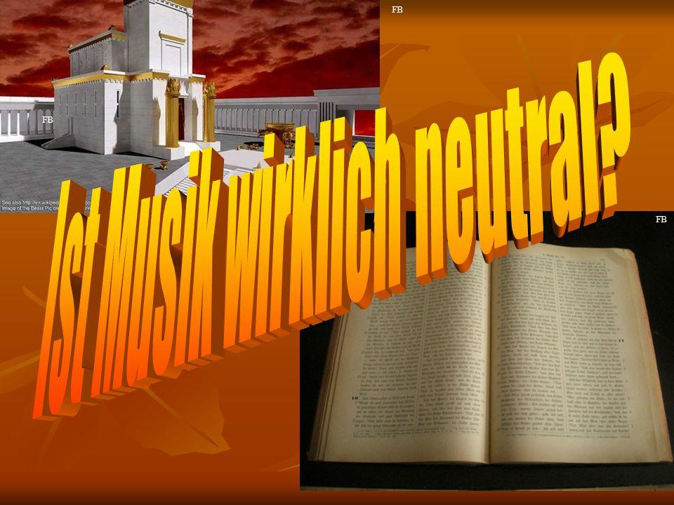 Musik unter dem Einfluss des Bösen Musik im Dienst des Götzendienstes und der leidenschaftlichen Belus- tigung: 2Mo 32,6.19; 1Kor 10,6-7 Musik im Dienst des Götzendienstes und der leidenschaftlichen Belus- tigung: 2Mo 32,6.19; 1Kor 10,6-7 2Mo 32: 5 Und als Aaron es sah, baute er einen Altar vor ihm; und Aaron rief aus und sprach: Ein Fest dem HERRN ist morgen.