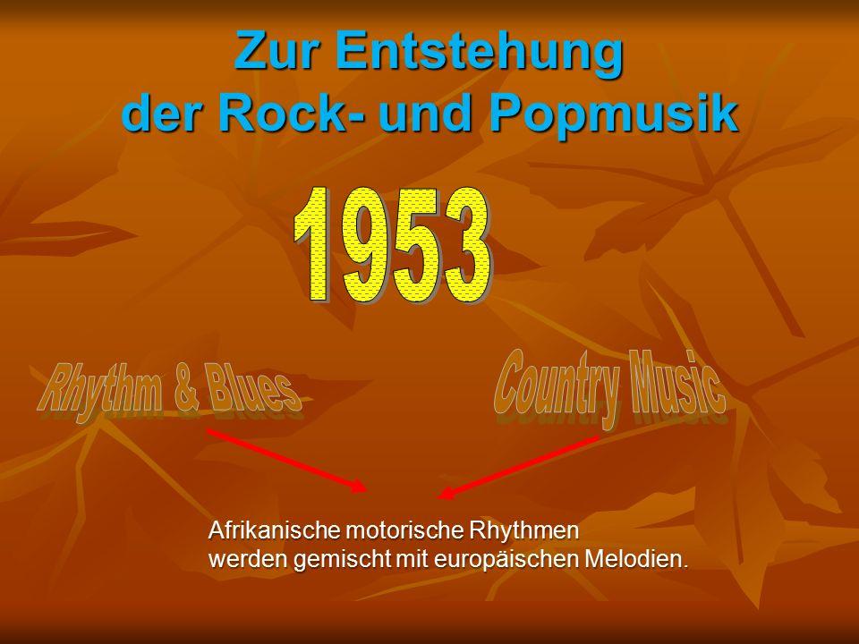 Afrikanische motorische Rhythmen werden gemischt mit europäischen Melodien.