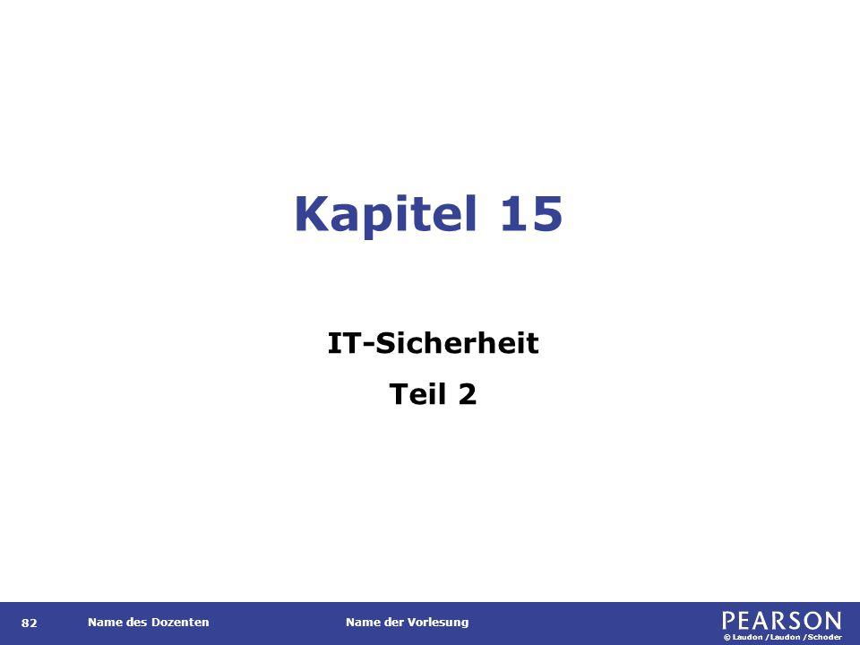 © Laudon /Laudon /Schoder Name des DozentenName der Vorlesung Certificate Revocation List 143 Auch: Zertifikatsperrliste.