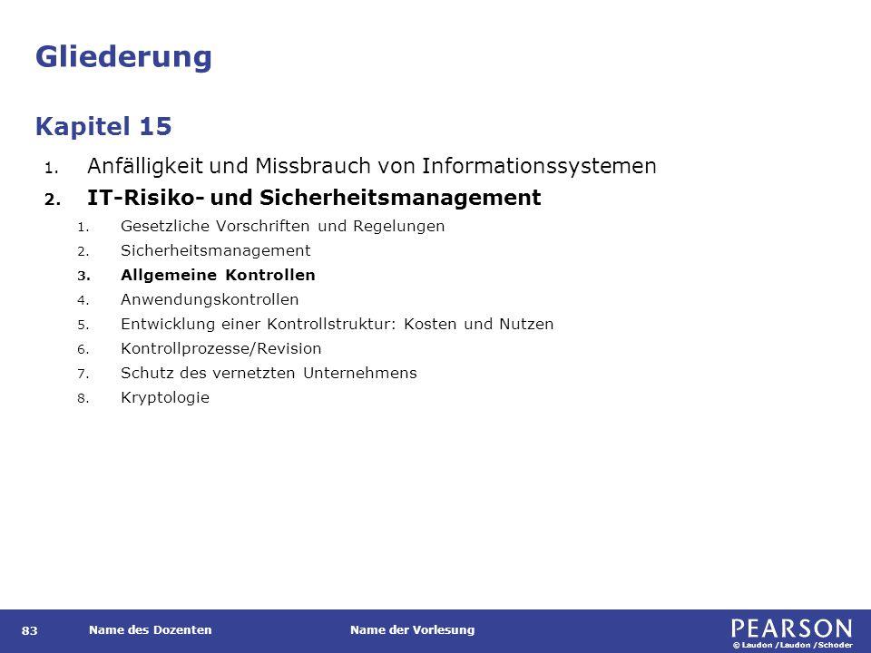 © Laudon /Laudon /Schoder Name des DozentenName der Vorlesung Risikoabschätzung 104