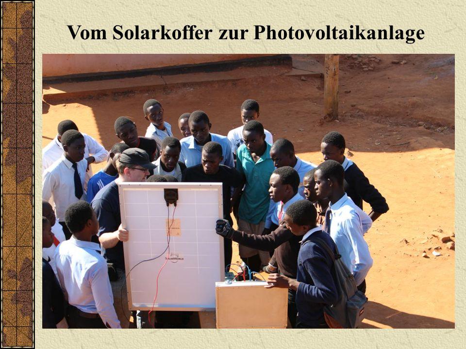 Vom Solarkoffer zur Photovoltaikanlage