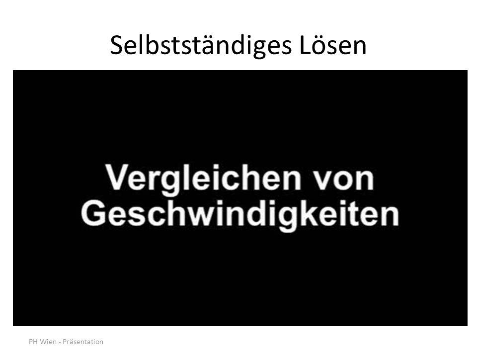 PH Wien - Präsentation Selbstständiges Lösen
