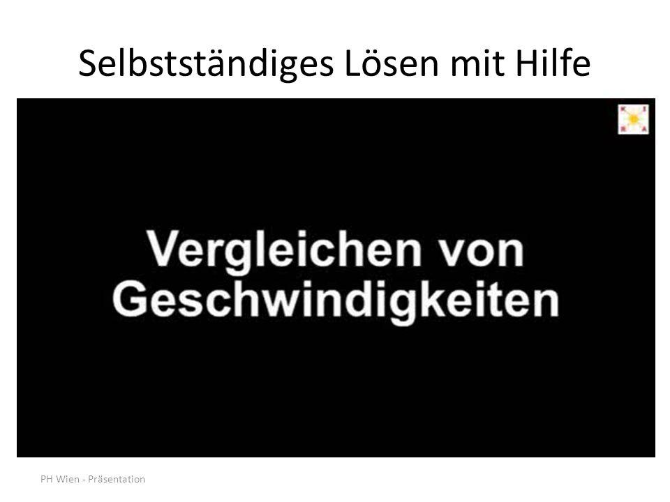 PH Wien - Präsentation Selbstständiges Lösen mit Hilfe