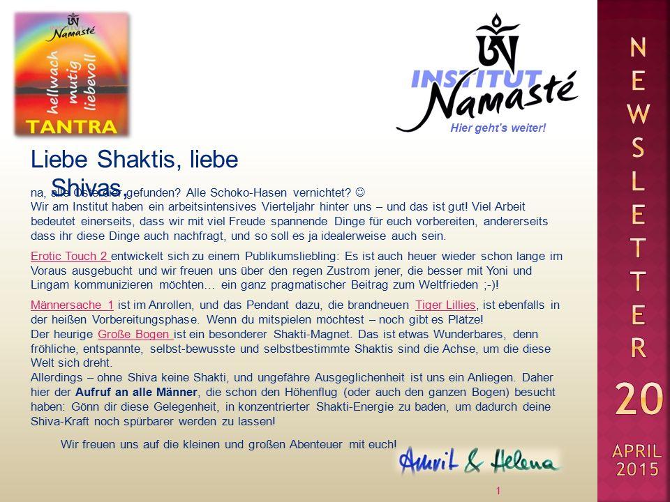 Liebe Shaktis, liebe Shivas, 1 na, alle Ostereier gefunden.