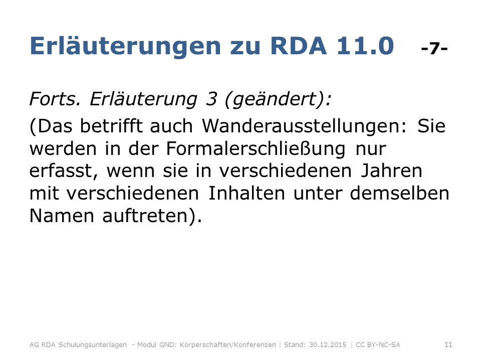 Erläuterungen zu RDA 11.0 -7- Forts.