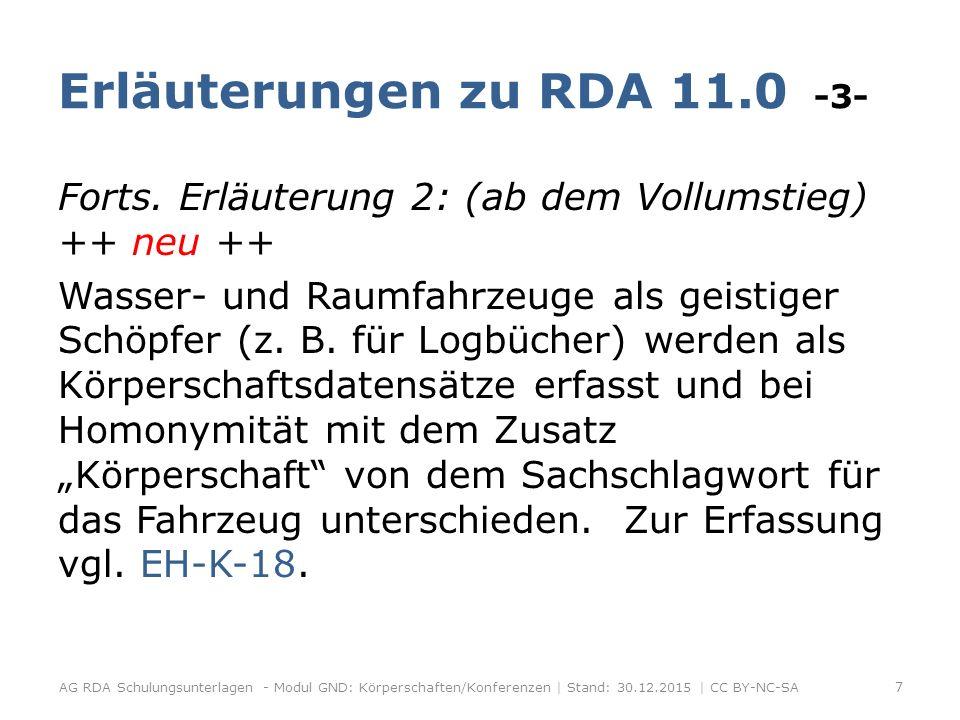 Konferenzreihen -1- Mit dem RDA-Vollumstieg werden Konferenzschriften überwiegend monografisch erfasst (s.