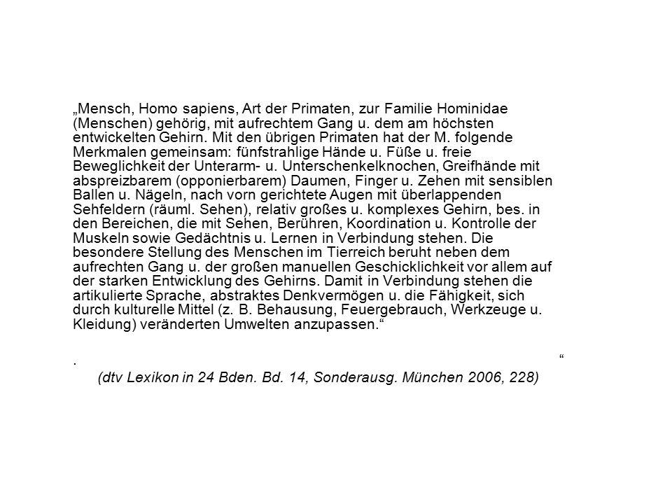 1.4.Naturwissenschaftliche Beschreibungen des Menschen 1.4.1.