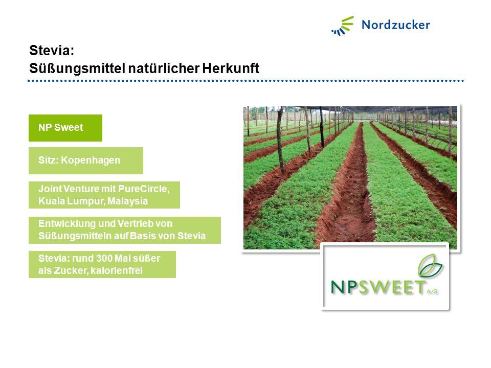 NP Sweet Entwicklung und Vertrieb von Süßungsmitteln auf Basis von Stevia Sitz: Kopenhagen Joint Venture mit PureCircle, Kuala Lumpur, Malaysia Stevia
