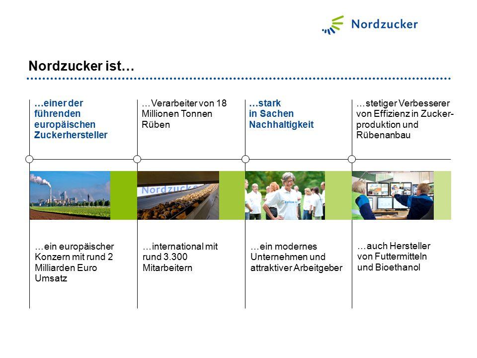 …einer der führenden europäischen Zuckerhersteller …stark in Sachen Nachhaltigkeit …ein europäischer Konzern mit rund 2 Milliarden Euro Umsatz …intern
